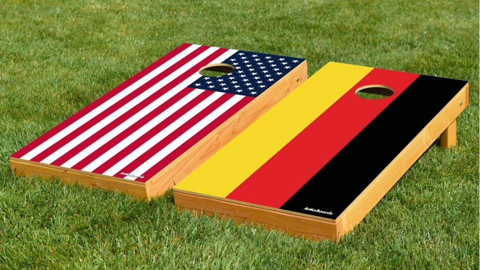 The Deutschlands and Mericas w/bags