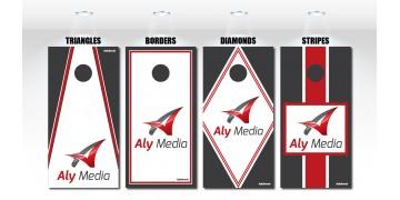 Custom Template Design Cornhole Boards w/bags