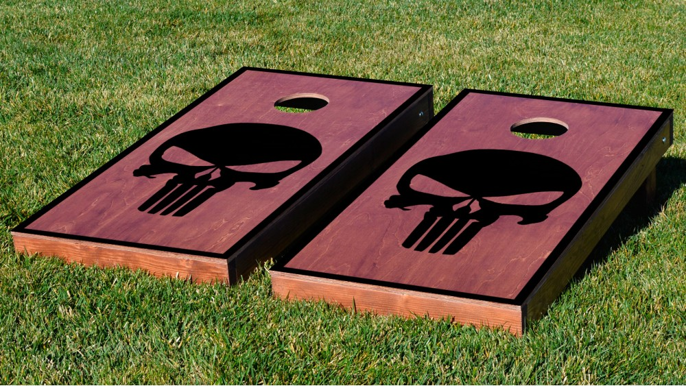 custom stained cornhole boards wbags
