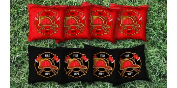 The Fire Helmets - 8 Cornhole Bags