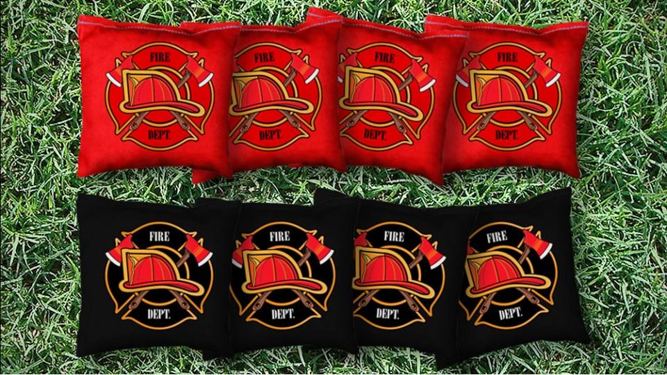 The Fire Helmets - 8 Cornhole Bags