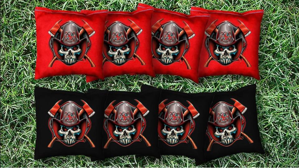 The Fire Skulls - 8 Cornhole Bags