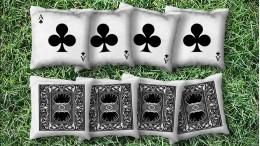 The Ace of Clubs - 8 Cornhole Bags