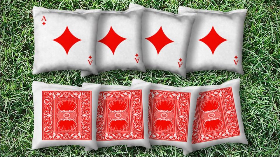 The Ace of Diamonds - 8 Cornhole Bags