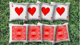 The Ace of Hearts - 8 Cornhole Bags