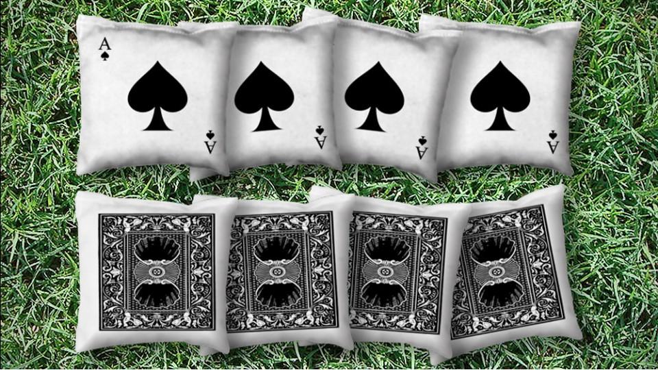 The Ace of Spades - 8 Cornhole Bags