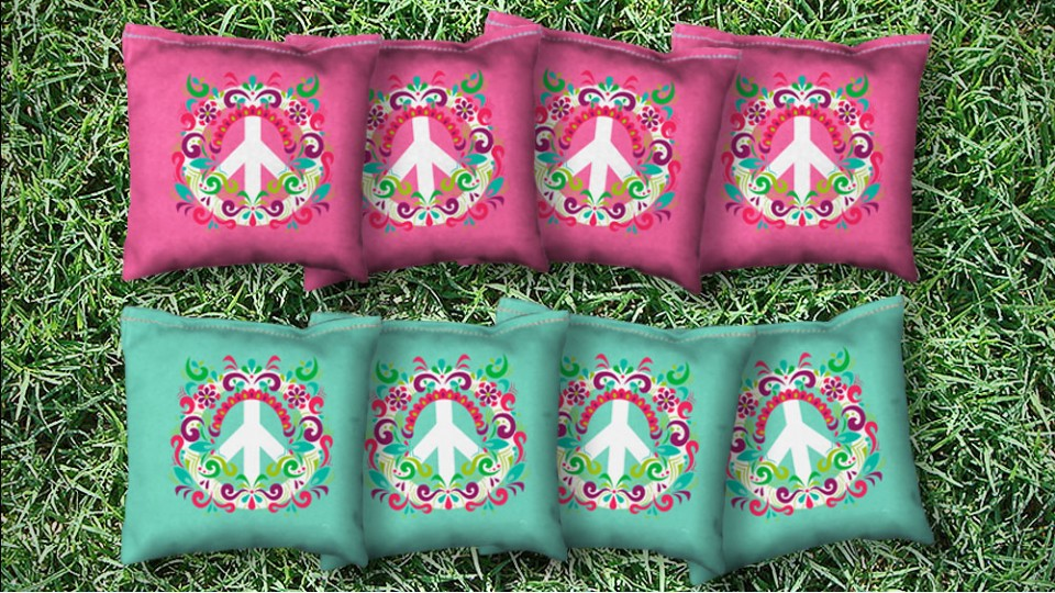 The Flower Powers - 8 Cornhole Bags