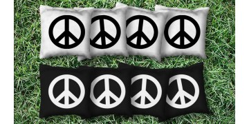 The Peace Signs - 8 Cornhole Bags