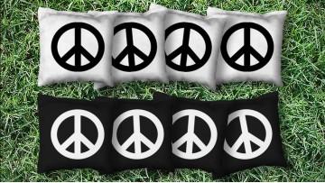 The Peace Signs - 8 Cornhole Bags