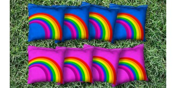 The Rainbows - 8 Cornhole Bags