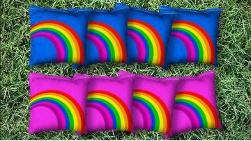 The Rainbows - 8 Cornhole Bags
