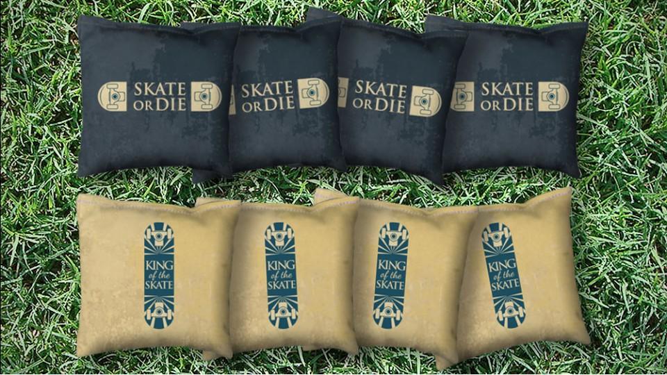 The Skates or Die - 8 Cornhole Bags