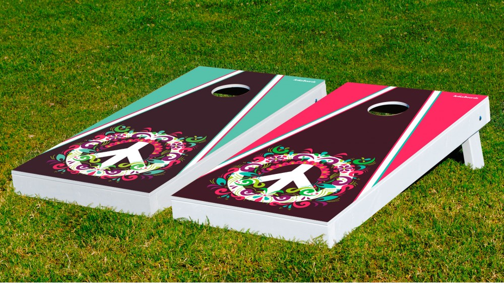 cheap cornhole boards blood sweat and cheers the flower powers wbags