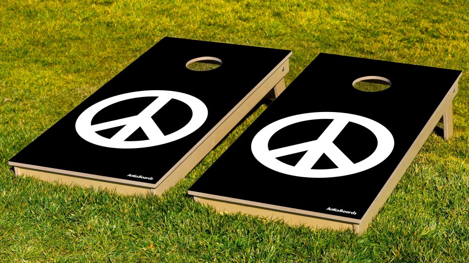 The Peace Signs (blk) w/bags