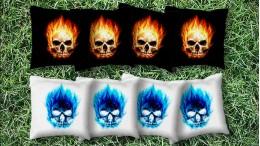 The Flaming Skulls - 8 Cornhole Bags