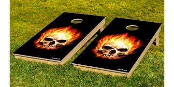The Flaming Skulls w/bags