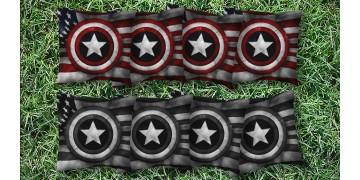 The Captin Americas - 8 Cornhole Bags