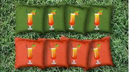 The Cocktail Paradises - 8 Cornhole Bags