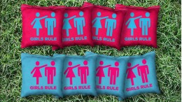 The Girls Rule - 8 Cornhole Bags