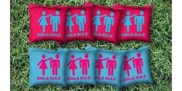 The Girls Rule - 8 Cornhole Bags