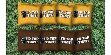 The I'd Tap That's - 8 Cornhole Bags