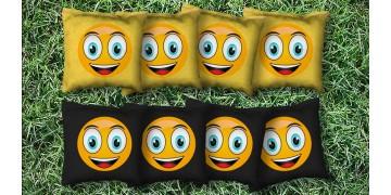 The Smiley's - 8 Cornhole Bags