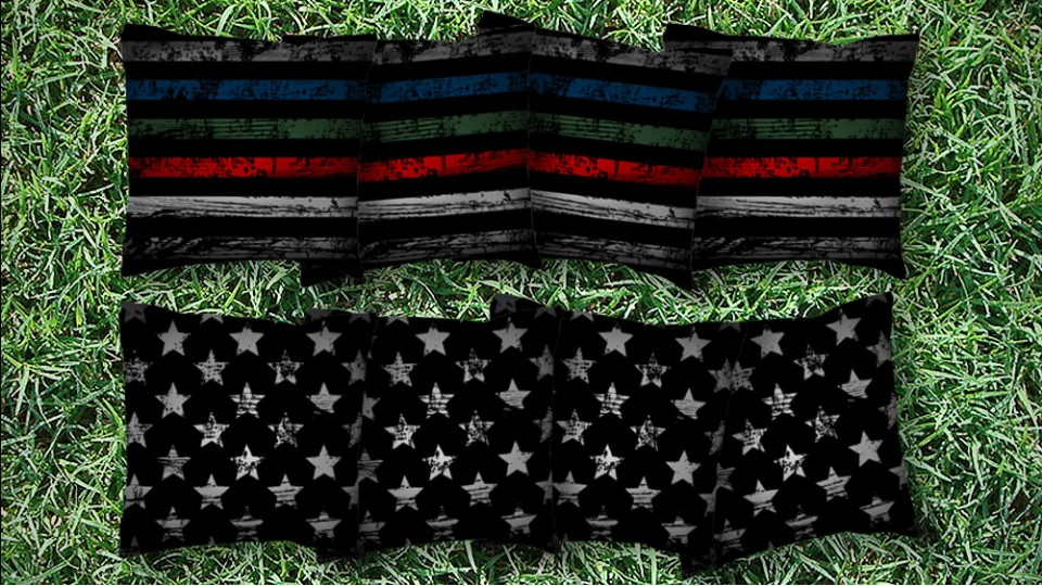 The Thin Blue Green Red Lines - 8 Cornhole Bags