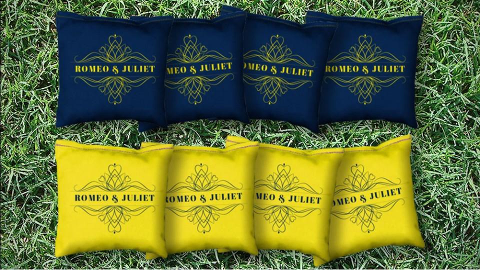 The Romeo & Juliets - 8 Cornhole Bags