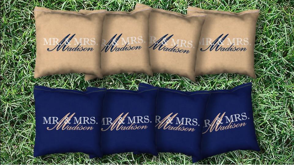 The Wedded Bliss - 8 Cornhole Bags