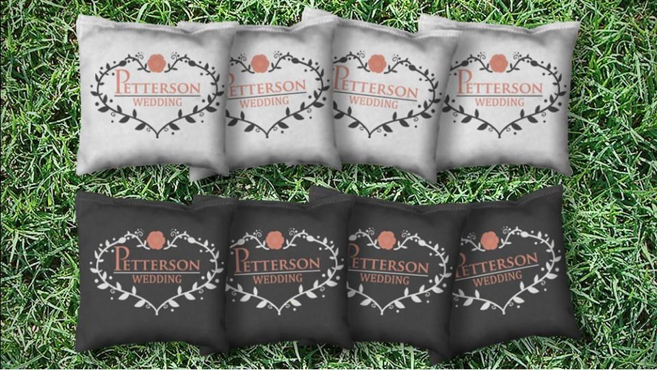 The Wedding Blossoms - 8 Cornhole Bags