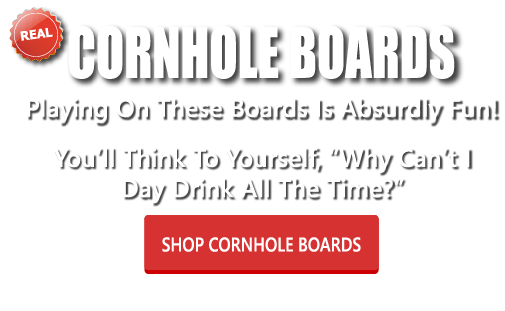 Having fun playing cornhole