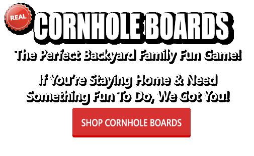 Having fun playing cornhole